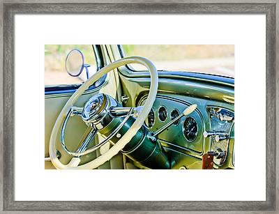 1933 Pontiac Steering Wheel -0463c Framed Print by Jill Reger
