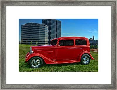 1934 Chevrolet Sedan Hot Rod Framed Print