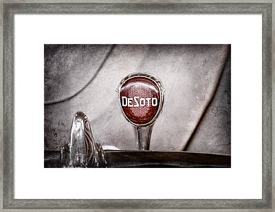 1934 Desoto Airflow Coupe Taillight Emblem Framed Print by Jill Reger
