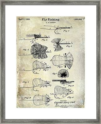 1934 Fly Fishing Lures  Framed Print