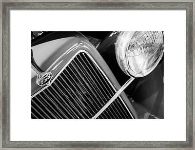 1934 Ford Pickup Truck Grille Emblem Framed Print