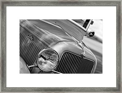 1934 Ford V8 Grille - Emblem Framed Print by Jill Reger