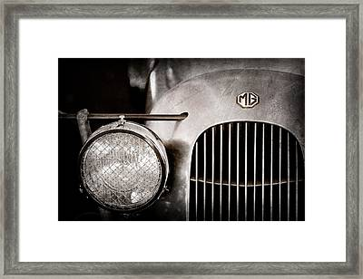 1934 Mg Pa Midget Supercharged Special Speedster Grille - Emblem Framed Print by Jill Reger