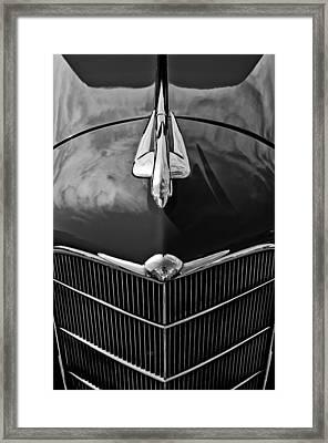 1934 Oldsmobile Hood Ornament Framed Print by Jill Reger