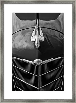 1934 Oldsmobile Hood Ornament Framed Print