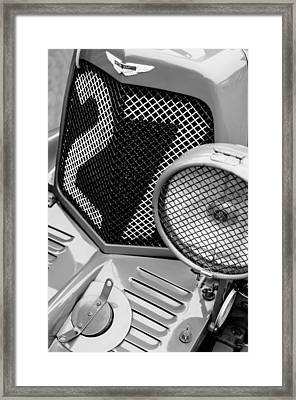1935 Aston Martin Ulster Race Car Grille Framed Print by Jill Reger