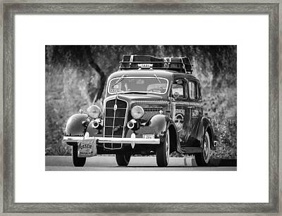 1935 Plymouth Taxi Cab Framed Print