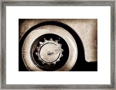 1936 Buick 40 Series Wheel Emblem Framed Print