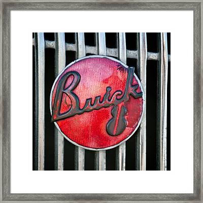 1936 Buick 8 Grille Emblem Framed Print