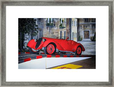 Framed Print featuring the photograph 1937 Alfa Romeo 8c 2900a by Boris Mordukhayev
