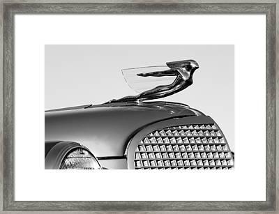 1937 Cadillac V8 Hood Ornament Framed Print by Jill Reger