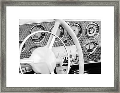 1937 Cord 812 Phaeton Dashboard Instruments Framed Print by Jill Reger