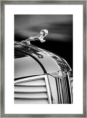1937 Dodge Hood Ornament - Emblem Framed Print by Jill Reger
