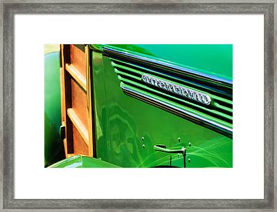 1937 International D-2 Station Wagon Side Emblem Framed Print by Jill Reger