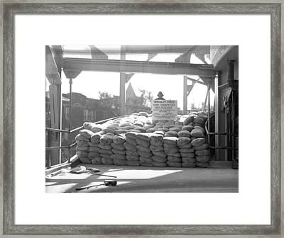 1937 Load Test At Wrigley Field Bleachers Framed Print by Retro Images Archive