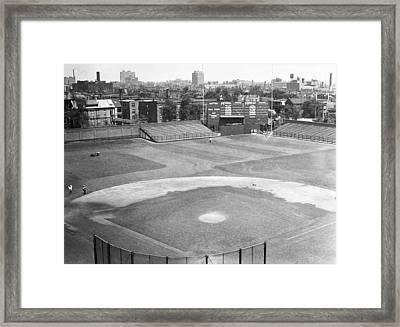 1937 Wrigley Field Scoreboard Framed Print by Retro Images Archive