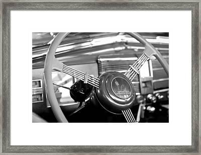 1938 Cadillac V-16 Presidential Convertible Parade Limousine Steering Wheel Framed Print by Jill Reger