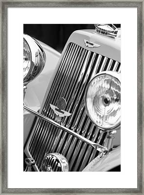 1939 Aston Martin 15-98 Abbey Coachworks Swb Sports Grille Emblems Framed Print by Jill Reger