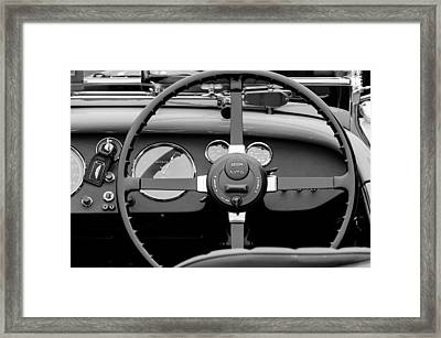 1939 Aston Martin 15-98 Abbey Coachworks Swb Sports Steering Wheel Framed Print by Jill Reger
