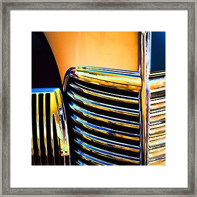 1939 Studebaker Champion Grille Framed Print by Carol Leigh
