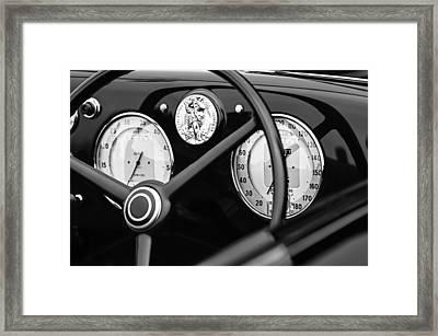1940 Alfa Romeo 6c 2500 Ss Graber Cabriolet Steering Wheel - Guages Framed Print by Jill Reger