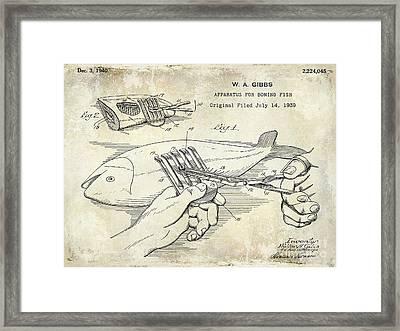 1940 Boning Fish Patent Drawing Framed Print
