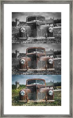 1940 Desoto Deluxe Triptych Framed Print by Scott Norris