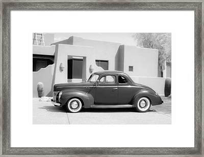 1940 Ford Deluxe Coupe Framed Print by Jill Reger