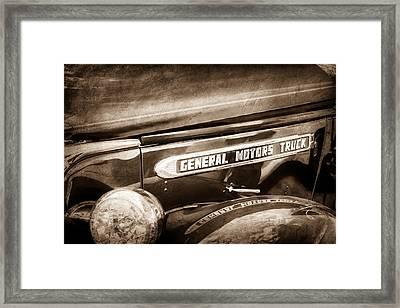 1940 Gmc General Motors Truck Emblem Framed Print by Jill Reger