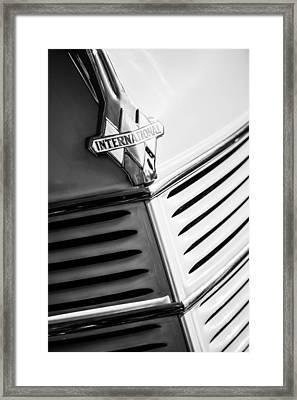 1940 International D-2 Station Wagon Grille Emblem Framed Print by Jill Reger