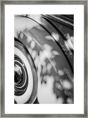 1940 International D-2 Station Wagon Wheel Framed Print