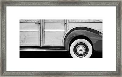 1940 Packard 120 Woody Station Wagon Wheel Emblem Framed Print by Jill Reger