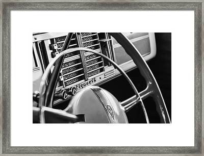 1940 Plymouth Deluxe Woody Wagon Steering Wheel Framed Print by Jill Reger