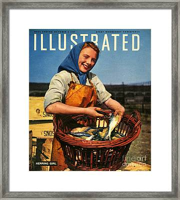 1940s Uk Illustrated Magazine Cover Framed Print