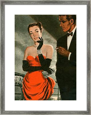 1940s Uk Woman Magazine Plate Framed Print by The Advertising Archives