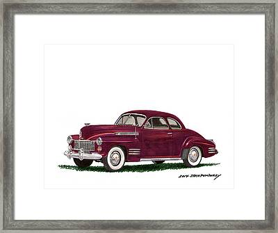 Cadillac 62 Coupe Framed Print
