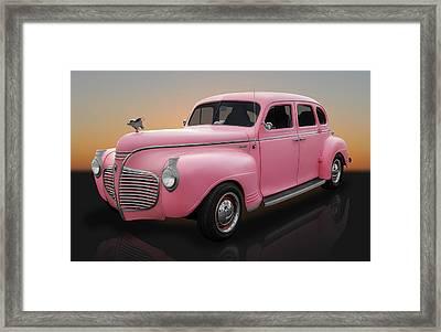 1941 Plymouth 4 Door Sedan Framed Print