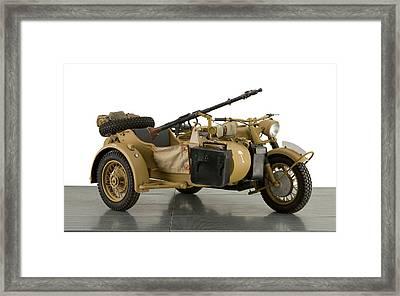 1943 Bmw 750cc R7 Africa Corps Military Framed Print