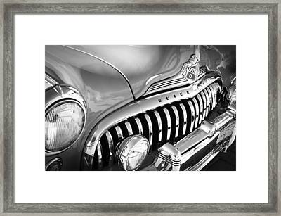1947 Buick Eight Super Grille Emblem Framed Print