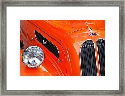 1948 Anglia 2-door Sedan Grille Emblem Framed Print by Jill Reger