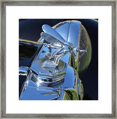 1948 Mg Hood Ornament Framed Print by Mark Steven Burhart