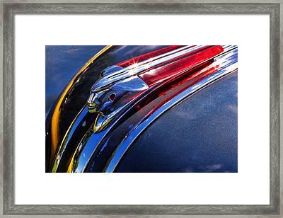 1948 Pontiac Silver Streak Hood Ornament Framed Print by Gordon Dean II