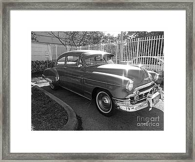 1949 Chevy Framed Print by Andres LaBrada