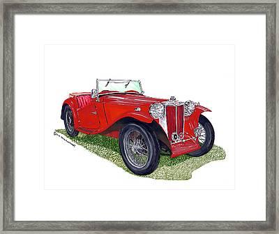 1949 M G T C Midget Framed Print by Jack Pumphrey