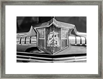 1949 Plymouth P-18 Special Deluxe Convertible Emblem Framed Print