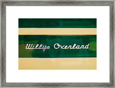 1949 Willys Jeep Station Wagon Emblem Framed Print by Jill Reger