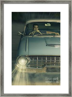 1950 Era American Car Culture  Framed Print