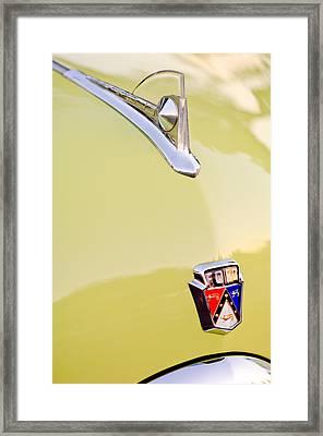 1950 Ford Hood Ornament - Emblem Framed Print by Jill Reger