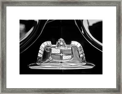1950 Lincoln Cosmopolitan Limousine Emblem Framed Print by Jill Reger