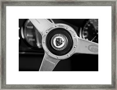 1951 Jaguar Steering Wheel Emblem Framed Print by Jill Reger
